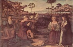 Vittore Carpaccio - paintings - Holy Family with Two Donors