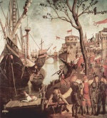 Vittore Carpaccio - paintings - The Arrival of the Pilgrims in Cologne