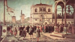 Vittore Carpaccio - paintings - The Ambassadors Return to the English Court