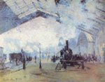 Claude Monet - Bilder Gemälde - Bahnhof Saint Lazare in Paris