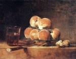 Jean Simeon Chardin - paintings - A Basket of Peaches