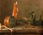 Jean Simeon Chardin - Bilder Gemälde - A Lean Diet with Cooking Utensils