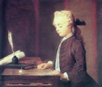 Jean Simeon Chardin - paintings - Boy with a Spinning Top (Auguste Gabriel Godefroy)