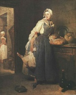 Jean Simeon Chardin - paintings - Return from the Market