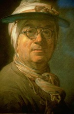 Jean Simeon Chardin - Bilder Gemälde - Self Portrait with an Eyeshade