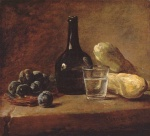 Jean Simeon Chardin - paintings - Still Life with Plums