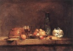 Jean Simeon Chardin - paintings - Still Life with Jar of Olives