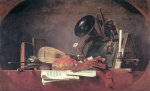 Jean Simeon Chardin - paintings - The Attributes of Music