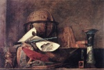 Jean Simeon Chardin - Bilder Gemälde - The Attributes of Science
