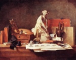 Jean Simeon Chardin - paintings - The Attributes of the Arts