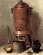 Jean Simeon Chardin - Bilder Gemälde - The Copper Drinking Fountain
