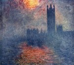 Claude Monet - Bilder Gemälde - Das Parlament in London