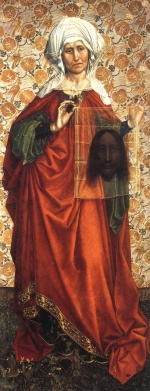 Robert Campin - paintings - Saint Veronica