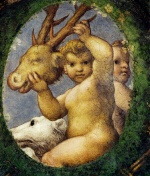 Correggio - paintings - Putto With Hunting Trophy