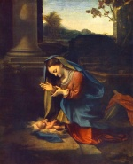 Correggio - paintings - The Adoration of the Child