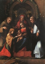Correggio - paintings - The Mystic Marriage of St. Catherine