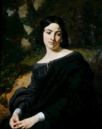 Thomas Couture - Bilder Gemälde - A Widow