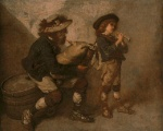 Thomas Couture - Bilder Gemälde - Piper and his Son