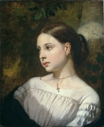 Thomas Couture - Bilder Gemälde - Portrait of a Girl