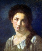 Thomas Couture - Bilder Gemälde - The Artists Daughter