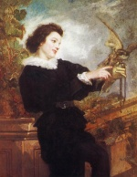 Thomas Couture - Bilder Gemälde - The Falconer