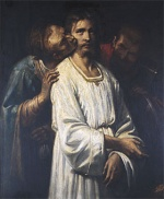 Thomas Couture - Bilder Gemälde - The Kiss of Judas
