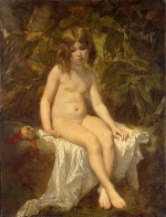 Thomas Couture - Bilder Gemälde - The Little Bather