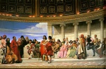 Paul Delaroche - Bilder Gemälde - Hemicycle of the Ecole des Beaux Arts