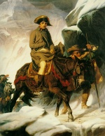 Paul Delaroche - Bilder Gemälde - Napoleon Crossing the Alps