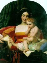 Paul Delaroche - Bilder Gemälde - The Childhood of Pico della Mirandola