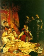 Paul Delaroche - Bilder Gemälde - The Death of Elizabeth