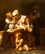 Paul Delaroche - Bilder Gemälde - Young Mother and Her Children
