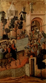 Duccio di Buoninsegna - paintings - Einzug Christi in Jerusalem