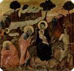 Duccio di Buoninsegna - paintings - Flucht nach Aegypthen