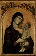 Duccio di Buoninsegna - paintings - Madonna mit Engeln