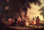 Asher Brown Durand - Bilder Gemälde - The Dance Of The Battery in the Presence of Peter Stuyvesant