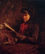 Frank Duveneck - Bilder Gemälde - Girl Reading