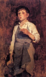 Frank Duveneck - Bilder Gemälde - He Lives by His Wits