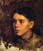 Frank Duveneck - Bilder Gemälde - Head of a Young Girl