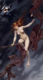 Luis Ricardo Falero - paintings - The Witches Sabbath