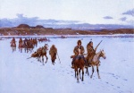 Henry Farny - paintings - Departure for the Buffalo Hunt