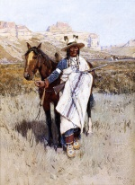 Henry Farny - paintings - Indian Scout