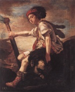 Domenico Fetti - paintings - David with the Head of Goliath