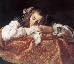 Domenico Fetti - paintings - Sleeping Girl