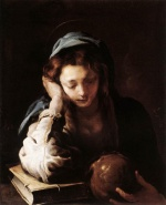 Domenico Fetti - paintings - The Repentant St Mary Magdalene