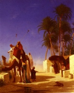 Charles Theodore Frere - Bilder Gemälde - Camel Drivers Drinking from the Wells