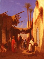 Charles Theodore Frere - Bilder Gemälde - Street In Damascus and Street in Cairo
