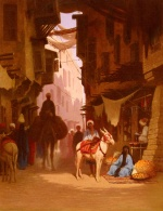 Charles Theodore Frere - paintings - The Souk