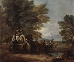 Thomas Gainsborough - paintings - The Harvest Wagon