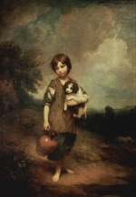 Thomas Gainsborough - paintings - Cottage Girl with Dog and Pitcher